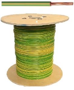 VOB kabel / draad 16 mm² Eca - Geel / Groen (H07V-R) - VOB16GG