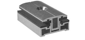 SCHLETTER - Glaspaneel middenklem Profi smal 3-8mm (incl. toebehoren M8x45)