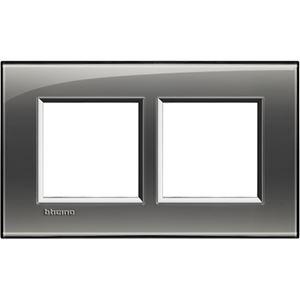Bticino - LL-Rechthoek. afdekpl. 2x2 mod 57mm london fog