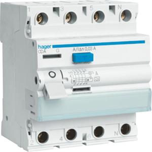 HAGER - Interrupteur différentiel 4P 63A 100mA type A