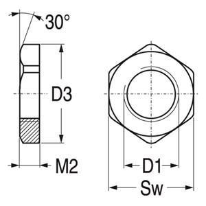 ABB Vynckier - MOEREN M16 POLYAMIDE GLASVEZELVERSTERKT RAL 7035