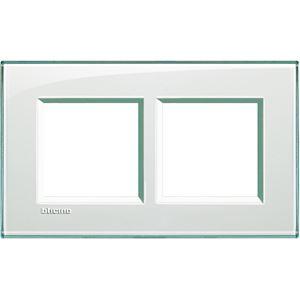 Bticino - LL-Rechthoek. afdekpl. 2x2 mod 57mm aquamarine
