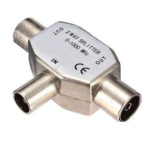 Elimex - 1 x 37292 2-way metal antenna splitter