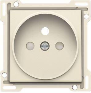 Niko Original Cream, afwerking voor stopcontact met penaarde en kinderveiligheid, inbouwdiepte 21 mm