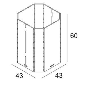 DELTA LIGHT - CONCRETE BOX TR 154