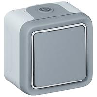 Legrand - Plexo wissel DIY grijs volledig apparaat