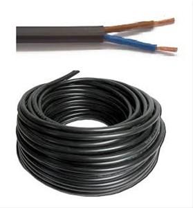 VTLB 2x0,75 (H03VV-F) - per meter of op rol - VTLB2X075ZW - zwart