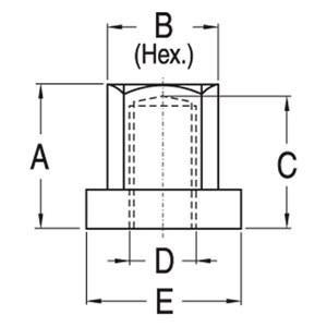 ABB Vynckier - GEÏSOLEERDE KOPMOER M8 H=25,3