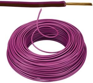VOB kabel / draad 1,5 mm² Eca - paars ( H07V-U ) - VOB15VI