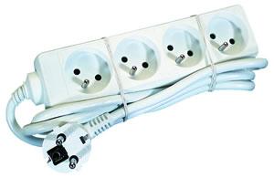 Elimex - KF-FB-04 AC Power strip 4x10/16A + 1,5m cord