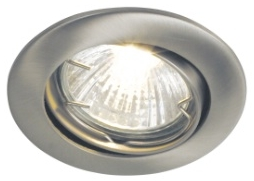 NORDLUX - Nordlux Rotating Recess 1 Kit Recessed 50 W Brushed Steel GU10 Recessed Spot Light 20040132