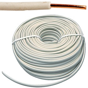 VOB kabel / draad 4 mm² - wit (H07V-U) - VOB4WI