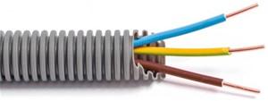 Tube précâblé - câble VOB - 3G4mm² Ø 20mm, 100 mètres - FLEX FE3G40