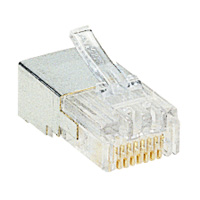 Legrand - Fiche RJ 45 cat. 5 câble rond 9 contacts - largeur 11,7 mm