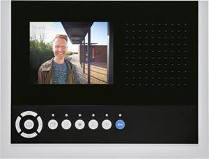 """Niko Toegangscontrole - Luxueuze handsfree videobinnenpost met groot 5.7"""" kleurenscherm en menufunctie, opbouw"""