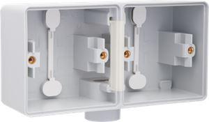 Niko, Hydro, dubbele horizontale opbouwdoos met één M20-ingang voor het inbouwen van twee functies