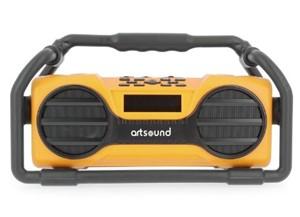 ARTSOUND - U6, oplaadbare digitale all-round radio, FM/SD/AUX/BT, geel