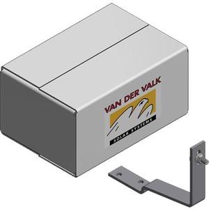 VAN DER VALK - ValkBox Smartline 9 semi-zwart - doos met kleine materialen voor schuin dak 9 panelen portrait