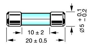 Elimex - FUSIBLE 5X20MM RAPIDE 0.05A