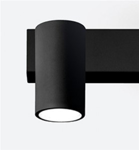 EGOLUCE - Newton wand-/plafondtoestel GU10 max. 7W zwart