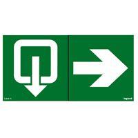 Legrand - Zelfklevend pictogram evacuatie + pijl