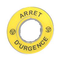 """SCHNEIDER - Noodstopetiket 3D """"Arrêt D'Urgence"""""""