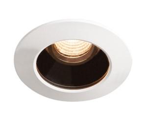 SLV LIGHTING - VARU DL, led outdoor plafondinbouwlamp, zwart/wit, IP20/65, 2700K