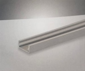 PROLUMIA - Aluminium profiel 3m zwart RAL 9005 mat Opbouw, 8mm, zwart