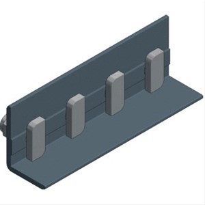 VAN DER VALK - Alu coupling for Side+ profile with 4x hammerhead bolt M8x20mm - black