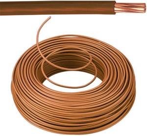 VOB kabel / draad 10 mm² - bruin (H07V-R) - VOB10BR