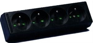 ABB Vynckier - Bloc multiprise 4x16A (2P+A) - Sans cordon - Noir