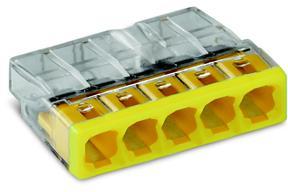 WAGO - 5 x 0,5-2,5mm² Transparant Geel