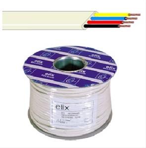Elimex - Câble téléphonique plat - 6 x 0,08mm² - Ivoire - ( R100 )