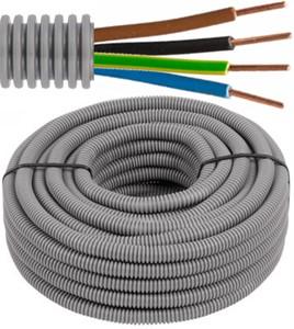 Tube précâblé - câble VOB - 4G6mm² Ø 25mm, 100 mètres - FLEX FE4G60