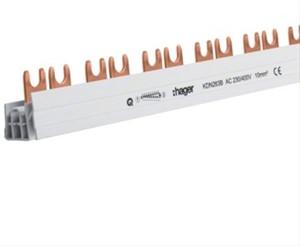 HAGER - Barre de pontage 2P 63A fourche 10mm² 57M