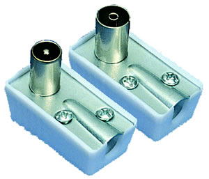 Elimex - 37281 & 37282 Right angle coaxial plug and jack