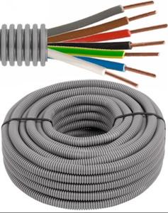 Tube précâblé - câble VOB - 7G1,5mm² Ø 16mm, 100 mètres - FLEX FE7G15D16
