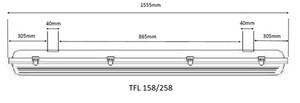 TECO - IP65 Armatuur 1x150cm 60W 3000K