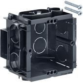 HELIA - Inbouw, inbouwdoos Q-range 60 x 60 x 50 mm met 4 schroefgaten en 2 schroeven bijgeleverd