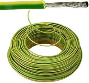 VOBst draad 4 mm² Eca - Geel/Groen (H07V-K) - VOBST4GG