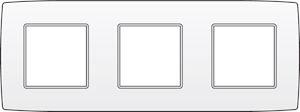 Niko, Drievoudige afdekplaat, Original White, 71 mm centerafstand