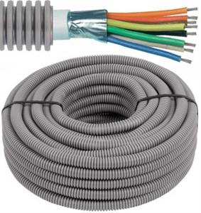 Tube précâblé - câble d'alarme - 6 x 0,22mm² Ø 16mm, 100 mètres - FLEX FEAL622