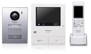 Panasonic, Videofoon kit met draadloze sub monitor, inbouw