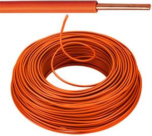 VOB kabel / draad 1,5 mm² Eca - oranje (H07V-U) - VOB15OR