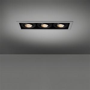 MODULAR - MINI MULTIPLE FOR 3X LED GE ALU-BLACK
