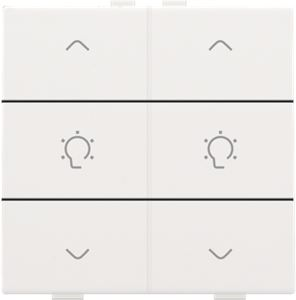 Niko Home control, dubbele dimbediening, Pure white steel