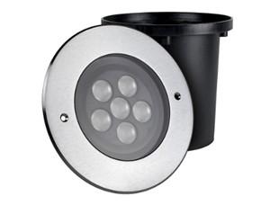 UNI-BRIGHT - GRONDSPOT ROND LED INOX IP67 24VDC 12W RGB 30°