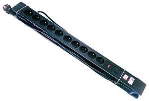 Elimex - Bloc multiprise 10X16A - avec interrupteur et protection 5M