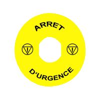 SCHNEIDER - TIQUETTE - 22 - 60 MM - ARRE