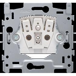 Niko, stopcontact met penaarde en kinderveiligheid, inbouwdiepte 28,5 mm, 16 A/250 Vac, insteekklemmen